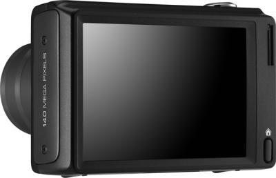 Компактный фотоаппарат Samsung WB210 Black - вид сзади