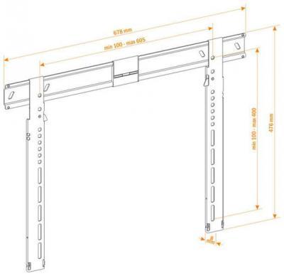 Кронштейн для телевизора Holder LEDS–7021 Metallic - схема