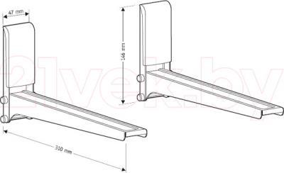 Кронштейн для СВЧ Holder MWS-2005 (металл) - габаритные размеры