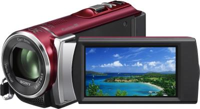 Видеокамера Sony HDR-CX200E Red - дисплей
