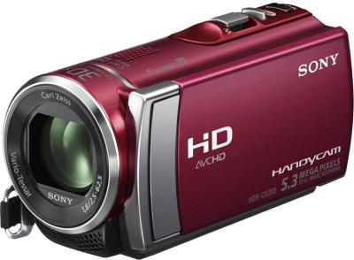 Видеокамера Sony HDR-CX200E Red - общий вид