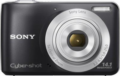 Компактный фотоаппарат Sony Cyber-shot DSC-S5000 Black - вид спереди