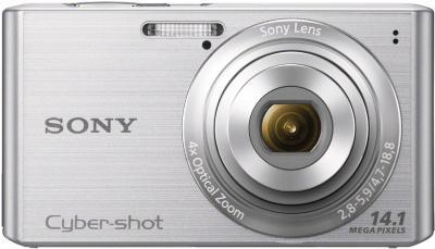 Компактный фотоаппарат Sony Cyber-shot DSC-W610 Silver - вид спереди