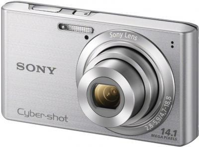 Компактный фотоаппарат Sony Cyber-shot DSC-W610 Silver - общий вид