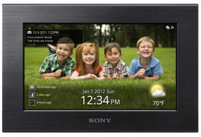 Цифровая фоторамка Sony DPF-W700 - вид спереди