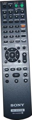 Домашний кинотеатр Sony HT-DDWG800 - пульт управления