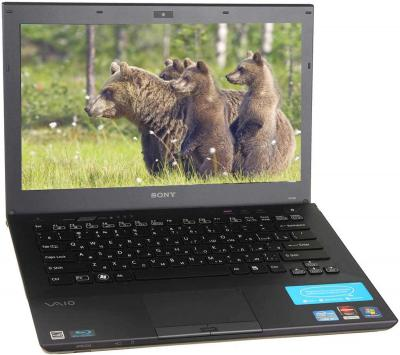 Ноутбук Sony VAIO VPCSE1V9R/B - открытый