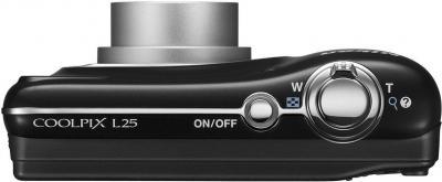 Компактный фотоаппарат Nikon Coolpix L25 (Black) - вид сверху