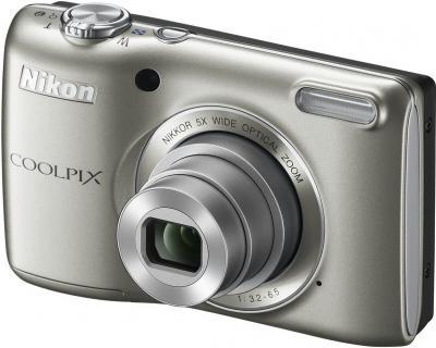 Компактный фотоаппарат Nikon Coolpix L26 (Silver) - общий вид