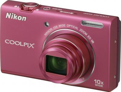 Компактный фотоаппарат Nikon Coolpix S6200 Pink - общий вид