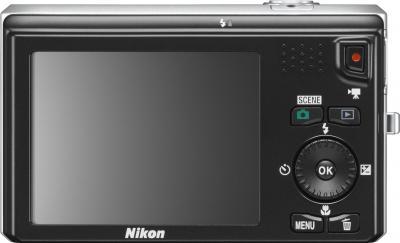 Компактный фотоаппарат Nikon Coolpix S6300 (Silver) - вид сзади