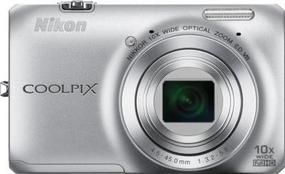 Компактный фотоаппарат Nikon Coolpix S6300 (Silver) - вид спереди