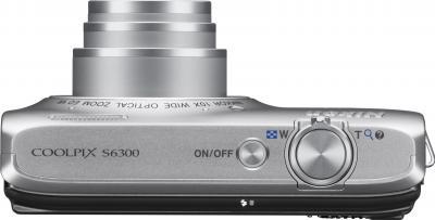 Компактный фотоаппарат Nikon Coolpix S6300 (Silver) - общий вид