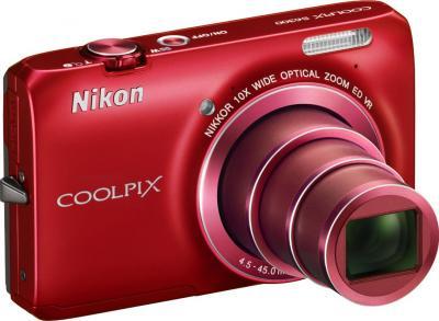 Компактный фотоаппарат Nikon Coolpix S6300 (Red) - общий вид