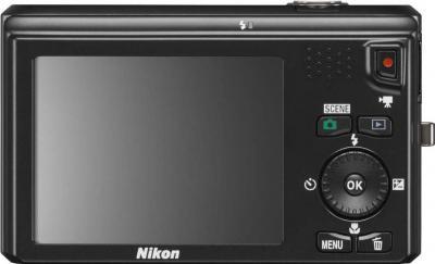 Компактный фотоаппарат Nikon Coolpix S6300 (Black) - вид сзади