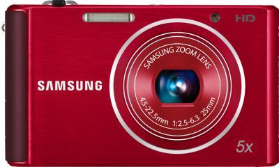 Компактный фотоаппарат Samsung ST77 (EC-ST77ZZBPRRU) - вид спереди