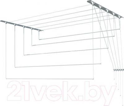Сушилка для белья ПТФ Лиана С-008 (2м, металл) - общий вид