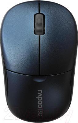 Мышь Rapoo 1090p (синий) - общий вид
