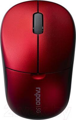 Мышь Rapoo 1090p (красный) - общий вид
