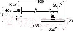 Верхний душ Roca Vintage A5B9750C00