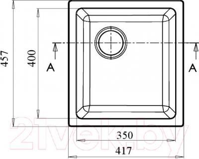 Мойка кухонная GranFest GF-3540 (серый) - схема