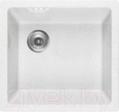 Мойка кухонная GranFest GF-4540 (белый) - общий вид (образец цвета может отличаться от реального цвета мойки)