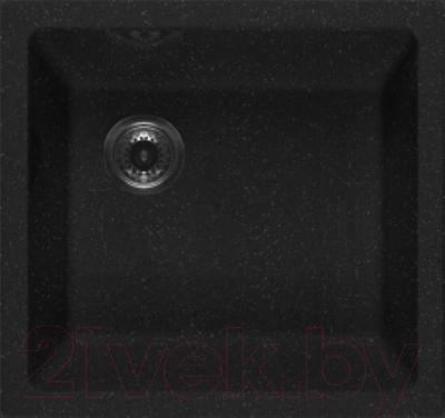 Мойка кухонная GranFest GF-4540 (черный) - общий вид (образец цвета может отличаться от реального цвета мойки)