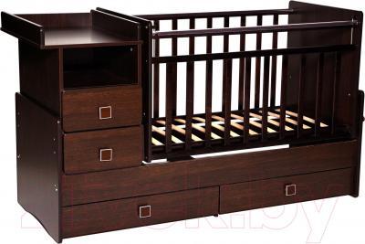 Детская кровать-трансформер Антел Ульяна-4 (венге)