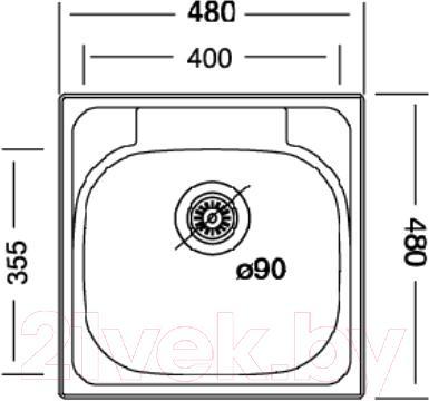 Мойка кухонная Kromevye EC 309 D - схема