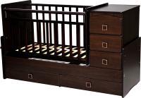 Детская кровать-трансформер Антел Ульяна-2 (венге) -