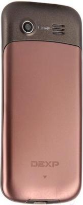 Мобильный телефон DEXP Larus M1 (бронзовый) - вид сзади