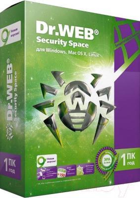 Антивирусное ПО Dr.Web Security Space 1 ПК/1 год (BHW-B-12M-1-A3) - общий вид