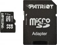 Карта памяти Patriot microSDHC (Class 10) 32 Gb + адаптер (PSF32GMCSDHC10) -