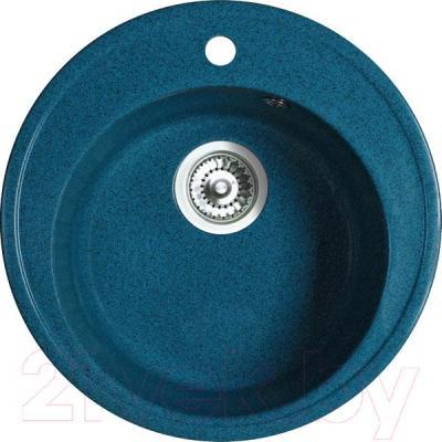 Мойка кухонная Belux BRG-51-01 (бирюзовый) - общий вид