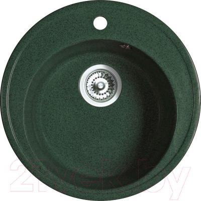 Мойка кухонная Belux BRG-51-01 (темно-зеленый) - общий вид