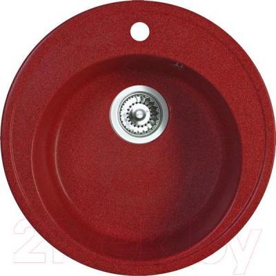 Мойка кухонная Belux BRG-51-01 (красный) - общий вид
