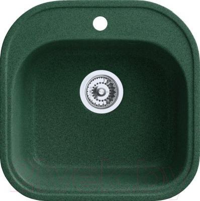 Мойка кухонная Belux BBG-4949-01 (темно-зеленый) - общий вид