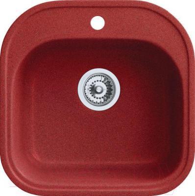 Мойка кухонная Belux BBG-4949-01 (красный) - общий вид