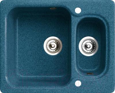 Мойка кухонная Belux KM-6150-01 (бирюзовый) - общий вид