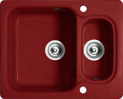 Мойка кухонная Belux KM-6150-01 (красный) - общий вид