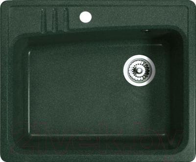 Мойка кухонная Belux KSD-6151-01 (темно-зеленый) - общий вид