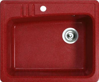 Мойка кухонная Belux KSD-6151-01 (красный) - общий вид