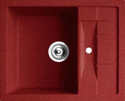 Мойка кухонная Belux KLG-6250 (красный) - общий вид