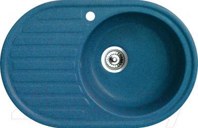 Мойка кухонная Belux BSG-7750-01 (бирюзовый) - общий вид