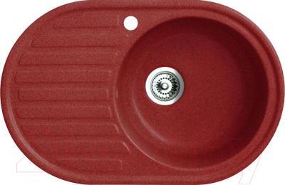 Мойка кухонная Belux BSG-7750-01 (красный) - общий вид