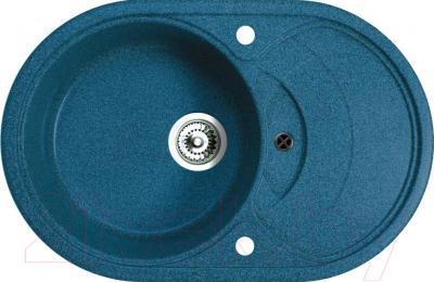 Мойка кухонная Belux BLG-7850 (бирюзовый) - общий вид