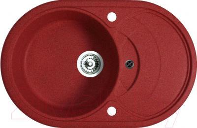 Мойка кухонная Belux BLG-7850 (красный) - общий вид