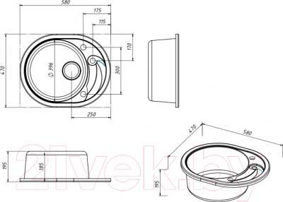 Мойка кухонная Belux BLG-5847
