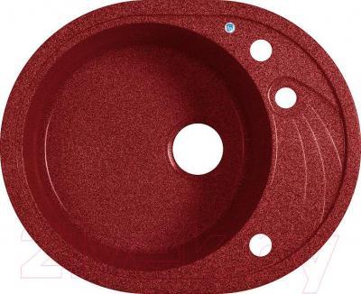 Мойка кухонная Belux BLG-5847 (красный) - общий вид