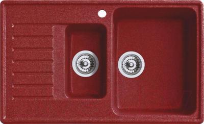 Мойка кухонная Belux KM-8250-01 (красный)